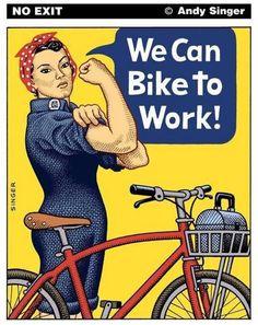 We can bike to work...