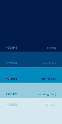 Pantone Azul, Pantone Colour Palettes, Pantone Color, Flat Color Palette, Color Palate, Colour Schemes, Color Patterns, Couleur Hexadecimal, Web Colors