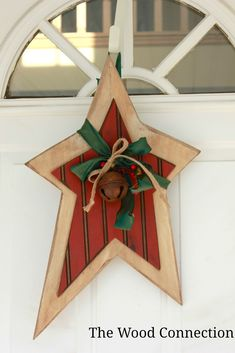 The Wood Connection: Christmas Star Door Hang