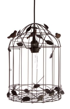 SWALLOW BIRDCAGE PENDANT LAMP