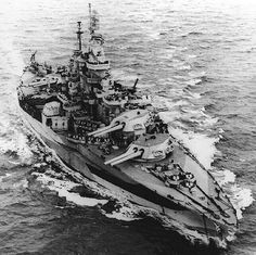 Colorado-class battleship USS West Virginia, 1944. - Help Us Salute Our Veterans by supporting their businesses at www.VeteransDirectory.com, Post Jobs and Hire Veterans VIA www.HireAVeteran.com Repin and Link URLs