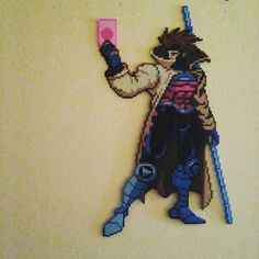 Gambit perler beads  by Sulley45635