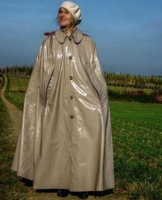 Plastic Raincoat, Plastic Pants, Rain Cape, Pvc Vinyl, Rain Wear, Feminine Style, What To Wear, Rain Jacket, Windbreaker