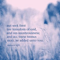 Matthew 6:33                                                                                                                                                                                 More
