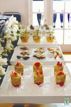 elegant finger food presentation planning tea party shower