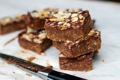 No Bake & No Fuss Caramel Chocolate Fudge Slice #justeatrealfood #eatdrinkpaleo