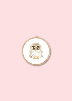 baby animal owl instant download pdf file easy cross