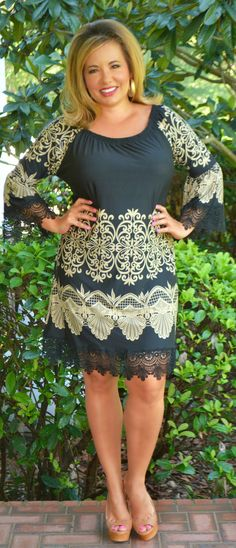 Perfectly Priscilla Boutique - Jewel Of The South Dress  -  Black, $48.00 (http://www.perfectlypriscilla.com/jewel-of-the-south-dress-black/)