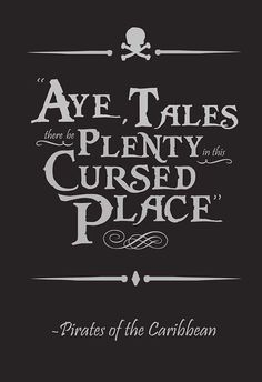 great printable quote of pirates of the caribbean for disney project life <3