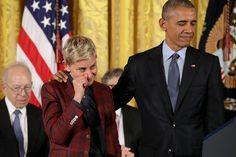 Елън Дедженерис с признание от Белия дом