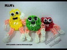 Rainbow Loom M&M's Action Figure/Charm (red & green) Tutorials - YouTube