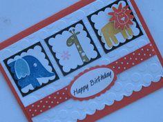 Birthday Card for a Child - Animals. $3.00, via Etsy.