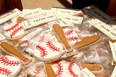 gallery of sugar envy cookies | Baseball cookies make for lovely baseball party favors! Learn how to ...