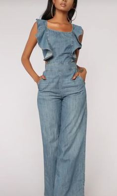 Overalls, Jumpsuit, Jeans, Beauty, Dresses, Fashion, Elegant Jumpsuit, Fashion Pants, Vestidos