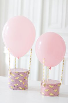 Three straws, one balloon - one hot air balloon! A ready-made gift packaging . - Three straws, one balloon – one hot air balloon! A ready-made gift packaging for children& - Diy Birthday, Birthday Gifts, Happy Birthday, Balloon Birthday, Birthday Ideas, One Balloon, Hot Air Balloon, Balloon Box, Air Ballon