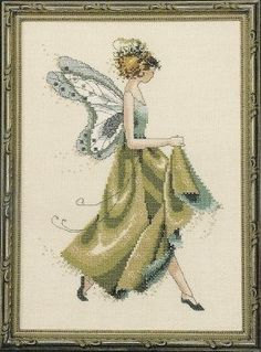"Mirabilia Cross Stitch ""Ivy"" from the Pixie Couture Collection #NC108 - Excellent Condition by WhimseysByAnne, $10.00"