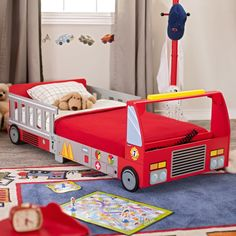 Have to have it. KidKraft Firetruck Toddler Bed $149.98