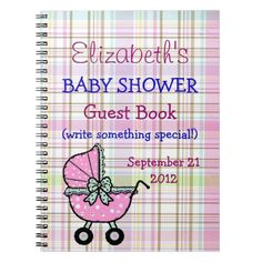 Baby Shower Guest Book Notebooks