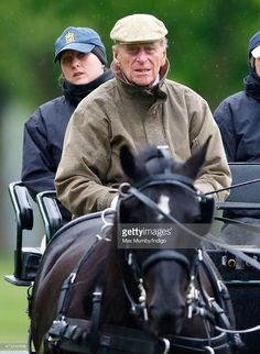 Prince Philip, Duke of Edinburgh carriage driving in Home Park on day 2 of the Royal Windsor Horse Show on May 14, 2015 in Windsor, England.