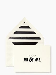"So cute for the newly married couple!  ""Thanks from the Mr. and Mrs.""  kate spade new york thank you notes"
