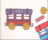 Le train de la semaine, pour apprendre les jours Kindergarten Vocabulary, French Grammar, Wooden Toys, Montessori, Diys, Train, Cool Stuff, School, Videos