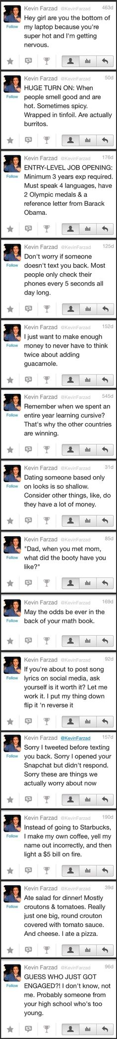 A collection of Kevin Farzad tweets- LMAO!!!