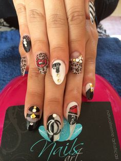Nails art, acrylic nails, fashion nails