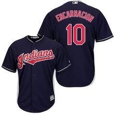 Indians #10 Edwin Encarnacion Navy Blue Alternate Stitched Youth MLB Jersey