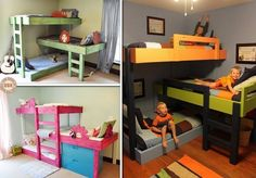 Tons of bunk bed ideas for when we have our brood of little ones (: