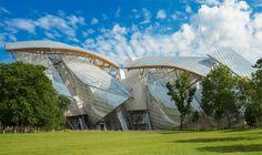 Just opened in Paris - brand new building by Frank Gehry - Bernard Arnault's Fondation Louis Vuitton, a new Paris museum.