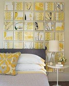 wall panel....maybe use scrapbook paper mounted