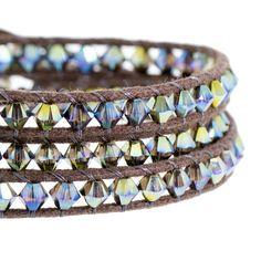 Iridescent Wrap Bracelet | Fusion Beads Inspiration Gallery #DriedHerb #FusionbeadsColorOfTheMonth