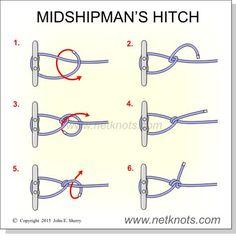 ADJUSTABLE (best): Midshipman's Hitch