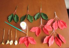 Poinsettia Tutorial Substance: Smartflex Flower or Gumpaste/Color gel: Juniper Green, Moss Green, Red Extra/Dust Colours: Red, Burgundy,...