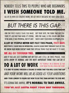 Ira Glass quote.