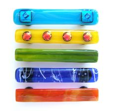Cabinet Handles or Pulls Kitchen Hardware by Uneek Glass Fusions,