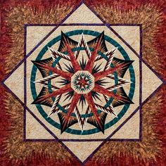 mariner compass quilt Judy Neimeyer | Mariner's compass, quiltworx.com ~ made by certified instructor Tammy ...