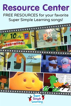 Free S-A-N-T-A resources for kids from Super Simple Learning. #EFL #preschool