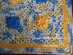 """Magia do Crochet: Colcha em crochet para cama de bebé e espreitando o meu novo """"wip"""""""