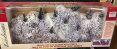 Lemax Christmas Village Mountain Backdrop Mountain with extra snow and  glitter