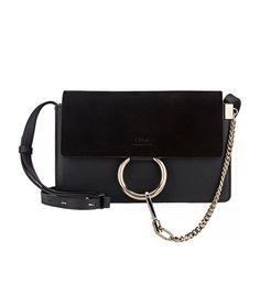 Chloe Faye Small Shoulder Bag, Black