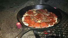 Campfire Pizza Keegan and I made