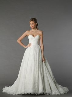 Dennis Basso :: Sweetheart A-Line Wedding Dress  with Natural Waist in Lace. Bridal Gown Style Number:33067646