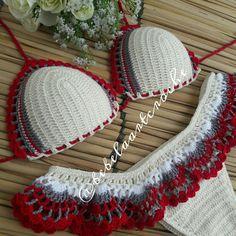 Beach Crochet, Crochet Bra, Crochet Bikini Pattern, Bead Crochet Rope, Crochet Woman, Crochet Crafts, Crochet Clothes, Crochet Patterns, Woolen Craft