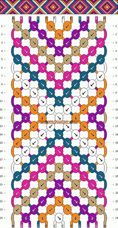 Normal Friendship Bracelet Pattern #2146 - BraceletBook.com