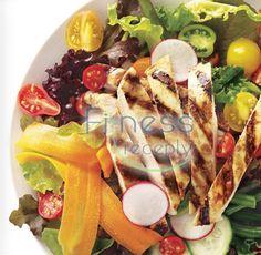 Zdravé fitness recepty - Kuracie prsia na letnom šaláte