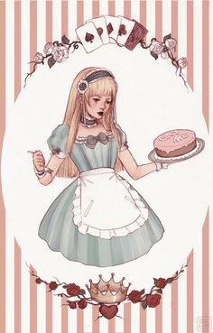 би-полярных медведей: Алиса и торт от = yasahime