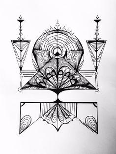 Arborvitae: Original pen & ink illustration by UnityofDuality on Etsy https://www.etsy.com/listing/243653767/arborvitae-original-pen-ink-illustration