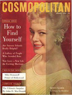Cosmopolitan magazine, JANUARY 1959 Betsy Palmer on cover