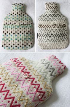 my hot water bottle needs a new sweater